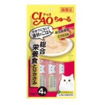いなばペットフード ちゅ~る 総合栄養食 とりささみ 14gx4本 猫用フードスナック