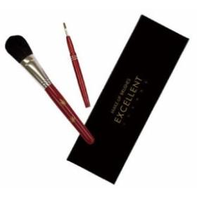 熊野の化粧筆2本セット Aタイプ(モミジ柄)  K2-A-M