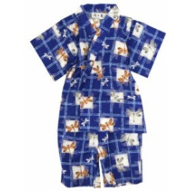 甚平 赤ちゃん ベビー 男の子 綿100% トンボ柄 じんべい スーツ上下 祭 甚兵衛 部屋着 寝まき パ