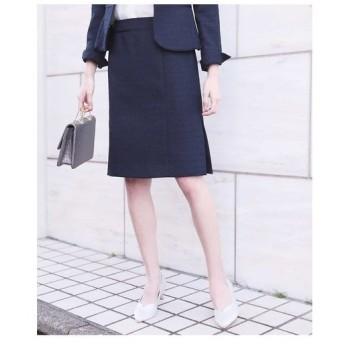 OFUON / 【セットアップ対応】ネップツイードタイトスカート