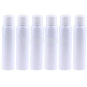 6本の空の細かいミストポンプスプレーボトル用香水トナーアンバーアトマイザー200ミリリットル