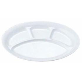 【 小判ランチ皿[大]4ツ切 54 クリーム 】 【 厨房器具 製菓道具 おしゃれ 飲食店 】