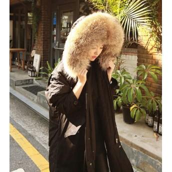 ダウンコート モッズコート フード アウター ビッグファー フェイクファー もこもこ 暖かい 防寒 防風 秋冬 お出かけ デート
