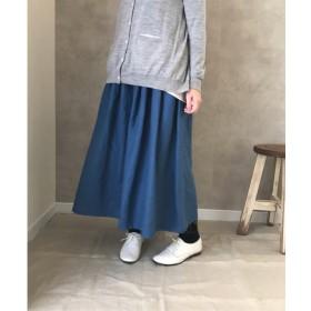 セール中です !フレンチリネン フレアー スカート ブルー