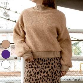 パーカー - argo-tokyo 【ARGO TOKYO 】 もこもこバルーンスリーブトップス トップス プードル 秋冬 韓国ファッション