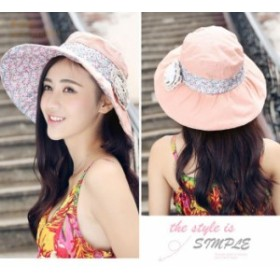 3ac640257b6211 レディース 日焼け帽子 ハット ナチュラルブリム 日焼け防止 折りたたみ UVカット 飛ばない 女優帽 UV