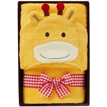 ミキハウス ■フード付きバスタオル【ベージュ(キリン)】