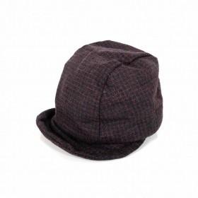 レナードプランク REINHARD PLANK ウール キャスケット キャップ 帽子 チェック柄 ALFIE WOOL ボルドー SIZE9 M 6589972111 col.064 メンズ
