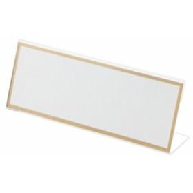 L型カード立 本体(アクリル製) CR-KD180-T 1個 クラウン  【オフィスアクセサリー カード立 CRO