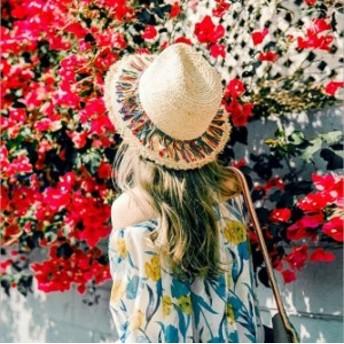 麦わら帽子 折りたためる ストローハット レディース つば広 UVハット 麦わら帽子 帽子 春夏 中折れ UVカット