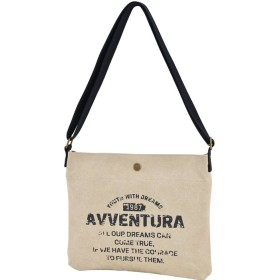 AVVENTURA ヴィンテージロゴ キャンバス ショルダートートバッグ