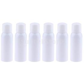 6本の空の細かいミストポンプスプレーボトル用香水トナーアンバーアトマイザー150ミリリットル