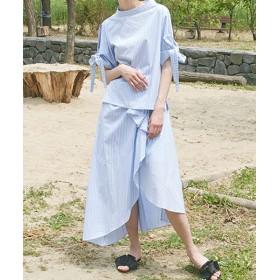 ロングスカート - NOWiSTYLE SWBD(ソーイングバウンダリーズ) 3wayギャザースカート韓国 韓国ファッション ギャザースカート カジュアル スカート ボトムスギャザー フリル レディース ファッション