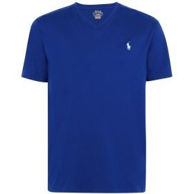 《期間限定セール開催中!》POLO RALPH LAUREN メンズ T シャツ ブルー XL コットン 100% Custom Slim Fit V-Neck Tee
