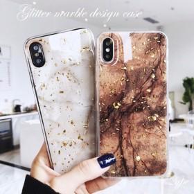 iPhoneケース キラキラ 大理石柄 iPhoneXR iPhoneXS iPhone8 iPhone7 iPhone6 携帯ケース 韓国 スマホケース ラメ グリッダー マーブル