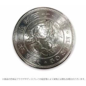 クラフト社 日本近代貨幣コンチョ 竜50銭銀貨 1170-15