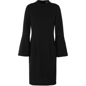 《セール開催中》DKNY レディース ミニワンピース&ドレス ブラック 6 ポリエステル 94% / ポリウレタン 6% LONG BELL SLEEVE SHEATH WITH PEARL STUD DETAIL