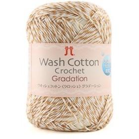 春夏毛糸 『Wash COTTON Crochet Garadation(ウォッシュコットンクロッシェグラデーション) 201番色』 ハマナカ