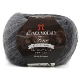 秋冬毛糸 『ALPACA MOHAIR Fine Gradation(アルパカモヘアフィーヌグラデーション) 109番色』 ハマナカ