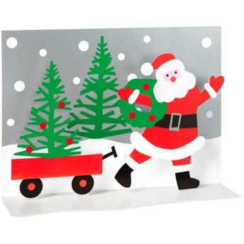 MoMA クリスマスカード サンタのワゴン (8枚セット)