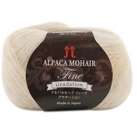 秋冬毛糸 『ALPACA MOHAIR Fine Gradation(アルパカモヘアフィーヌグラデーション) 101番色』 ハマナカ