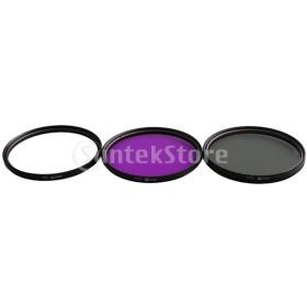 全8サイズ レンズフィルター UV + CPL + FLD デジタル一眼レフカメラ用 キャリーバッグ付き - 62mm