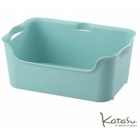 収納ボックス KataSu ( カタス )  サンイデア Squ+ おしゃれ 収納 ケース 収納ケース ボックス インテリアハコ M ブルー カラーボックス