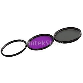 全8サイズ レンズフィルター UV + CPL + FLD デジタル一眼レフカメラ用 キャリーバッグ付き - 52mm