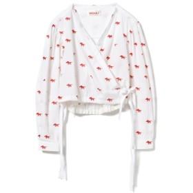 minki / アニマル カシュクール ブラウス● レディース カジュアルシャツ WHITE 8