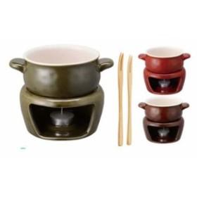 ほっくり チーズフォンデュ 茶 16467【 卓上鍋・焼物用品 】