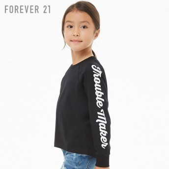 FOREVER21 フォーエバー21 【[KIDS]Trouble Makerグラフィックトップ】(5,000円以上購入で送料無料)