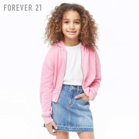 08303aa6e9313 FOREVER21 フォーエバー21   KIDS ベーシックジップアップパーカー ...