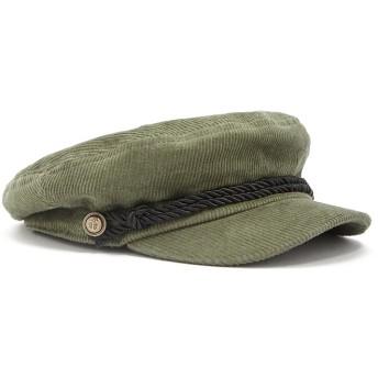 キャスケット - FOREVER 21 【WOMEN】 【ブレイドトリムコーデュロイキャスケット】 帽子 緑 カーキ