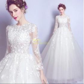 花嫁 パーティードレス ウェディングドレス ウエディングドレス プリンセスライン ブライダル 二次会 ワンピース大きいサイズ 結婚式 素