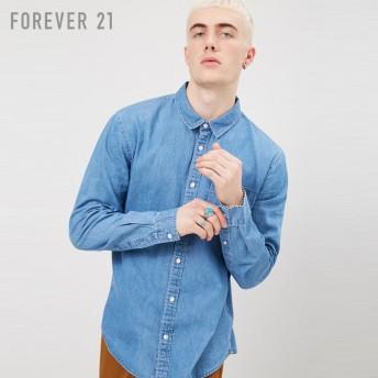 FOREVER21 フォーエバー21 【[MEN]シャンブレーシャツ】(5,000円以上購入で送料無料)