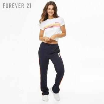 FOREVER21 フォーエバー21 【F21xWilsonロゴマルチストライプTシャツ】(5,000円以上購入で送料無料)