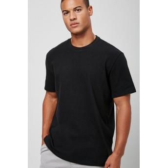 Tシャツ - FOREVER 21【MEN】 【ベーシッククルーネックTシャツ】無地 シンプル 黒 ブラック XS S M L 半袖tシャツ