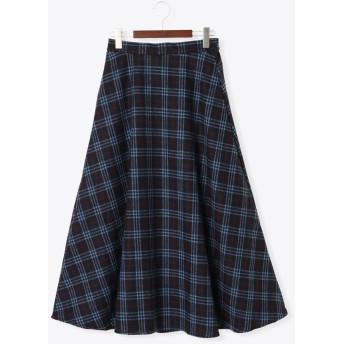 ひざ丈スカート - Te chichi TRチェックフレアロングスカート