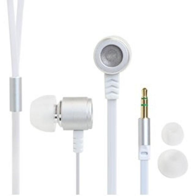イヤホン カナル型 Flat Cable Alumi Earphone [φ3.5mm ミニプラグ]