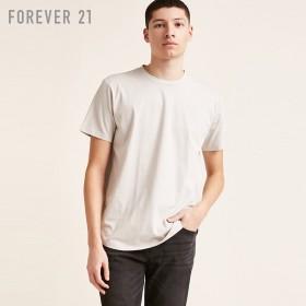 FOREVER21 フォーエバー21 【[MEN]カーブヘムTシャツ】(5,000円以上購入で送料無料)