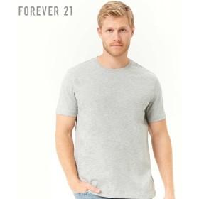 FOREVER21 フォーエバー21 【[MEN]ヘザークルーネックTシャツ】(5,000円以上購入で送料無料)