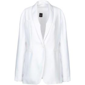 《期間限定セール開催中!》JIJIL レディース テーラードジャケット ホワイト 44 ポリエステル 100%