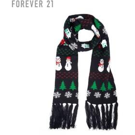 FOREVER21 フォーエバー21 【スノーマンフリンジマフラー】(5,000円以上購入で送料無料)