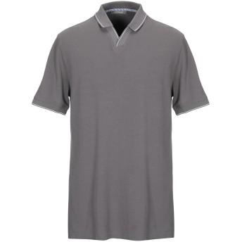 《期間限定セール開催中!》ANDREA FENZI メンズ ポロシャツ 鉛色 46 コットン 100%