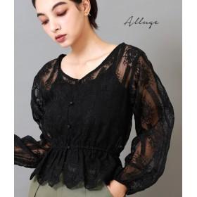 【セール開催中】ANAP(アナップ)オーガンジー刺繍ボリューム袖ブラウス
