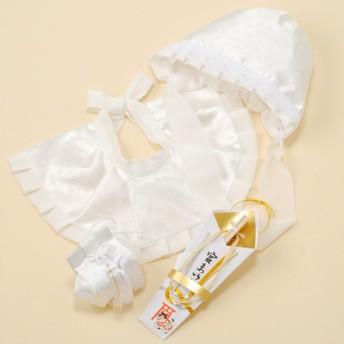 フード帽セット ホワイト お祝いイベント お宮参り・お食い初め お宮参り小物 (20)