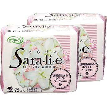 【まとめ買い】サラサーティ サラリエ おりものシート ホワイトブーケの香り 72コ入×2個パック
