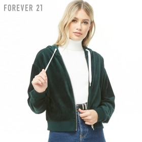 FOREVER21 ベロアジップアップパーカー