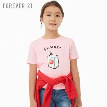 FOREVER21 フォーエバー21 【[KIDS]PeachyグラフィックTシャツ】(5,000円以上購入で送料無料)