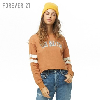 FOREVER21 フォーエバー21 【You Matterボクシートップ】(5,000円以上購入で送料無料)